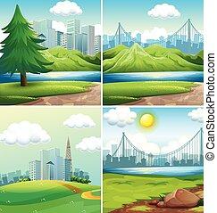 cidades, parques