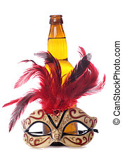 Cider and masquerade mask
