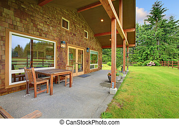 Cider house covered porch