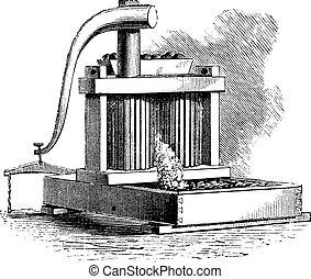 Cider Mill vintage engraving