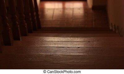 cień, pieszy, człowiek