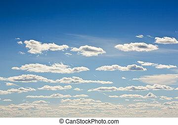 ciel, à, nuages blancs