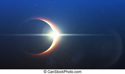 ciel, éclipse solaire