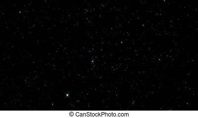 ciel, étoilé, étoiles, parfait, nuit, espace