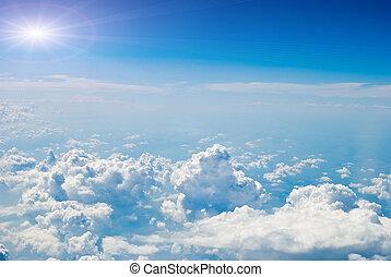 ciel, air, vue