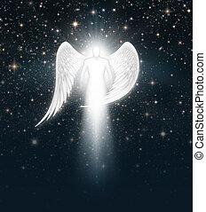 ciel, ange, nuit