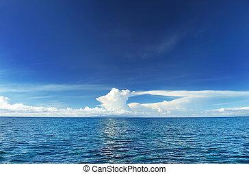 ciel, au-dessus, mer