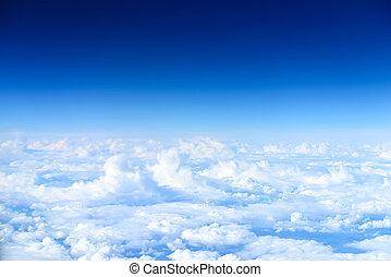 ciel, au-dessus, vue