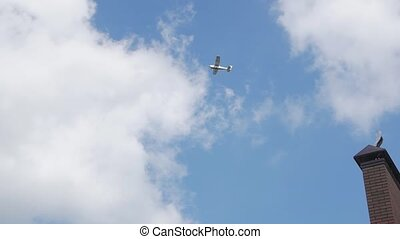 ciel, avion, hélice