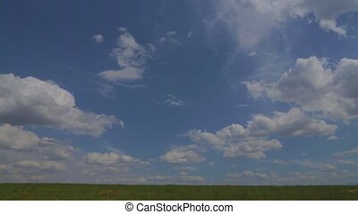 ciel, avion, nuages, fond