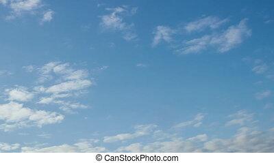 ciel bleu, 4k, nuage gonflé, soleil, défaillance, rouler, ...