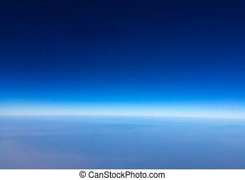 ciel bleu, arrière-plan., beau, clair, naturel