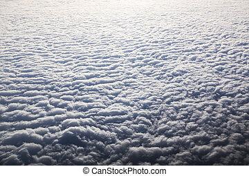 ciel bleu, blanc, cloudscape., cloud.