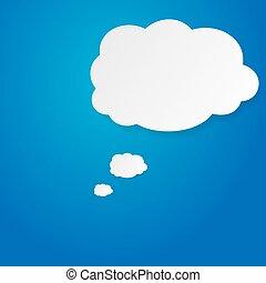 ciel bleu, bulle