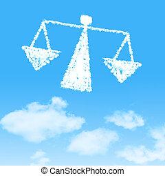 ciel bleu, conception, fond, nuage, icône