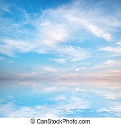 ciel bleu, fond