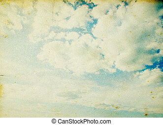 ciel bleu, grunge