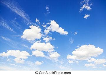 ciel bleu, naturel, fond