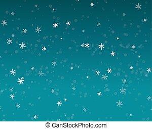 ciel bleu, nuit, neige, fond, automne, noël