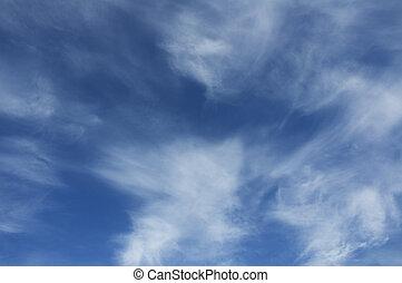 ciel bleu, profond