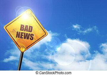 ciel bleu, signe jaune, mauvaises nouvelles, blanc, clouds:, route