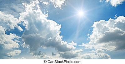 ciel bleu, soleil