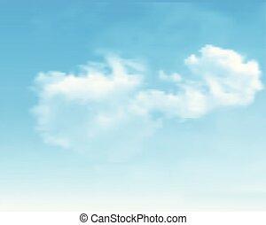 ciel bleu, vecteur, arrière-plan., clouds.