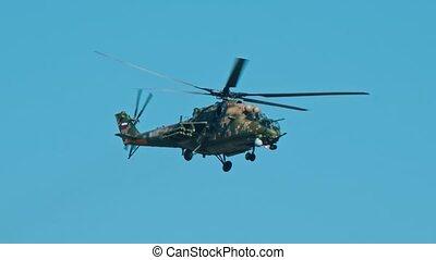 ciel, clair, vert, camouflage, coloration, hélicoptère...
