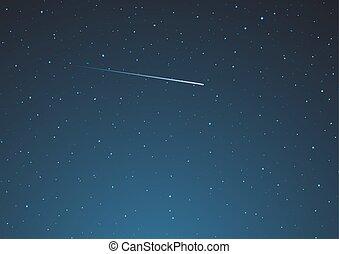 ciel, conception, étoile filante, nuit