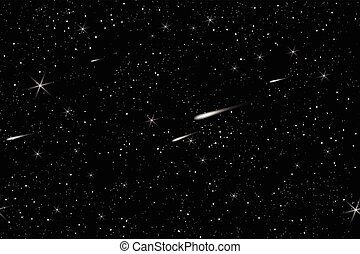 ciel, cosmique, fond, étoiles, espace