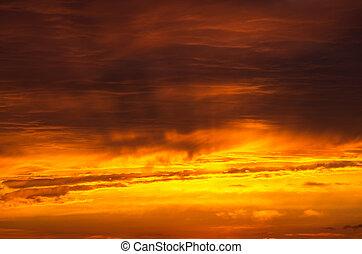 ciel coucher soleil, fond