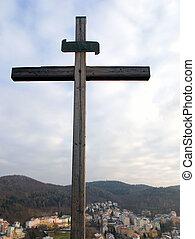 ciel, croix, fond