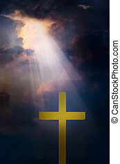 ciel dramatique, croix