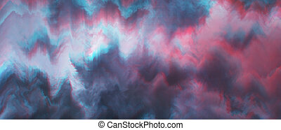 ciel dramatique, glitch, abstraction
