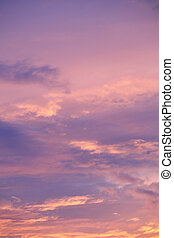 ciel, dramatique, nuages, coucher soleil, levers de soleil