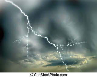 ciel dramatique, orage
