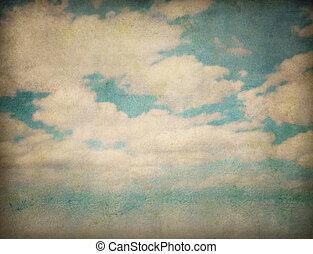 ciel, et, nuages, résumé, grunge, fond