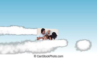 ciel, famille, vidéos