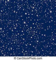 ciel, fond, étoiles, nuit