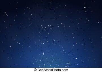 ciel, fond foncé, nuit, bleu