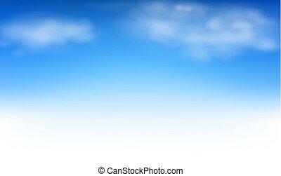 ciel, fond, nuages, bleu
