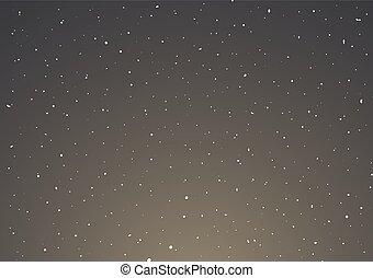 ciel, fond, nuit