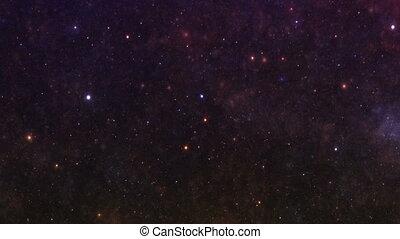 ciel, galaxie, étoiles, nuit, nébuleuse