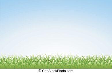 ciel, herbe, (seamless)