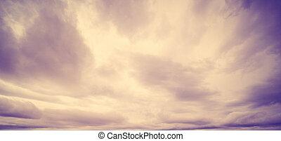 ciel, lever soleil coloré