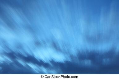 ciel, -, long, seulement, nuit, exposition