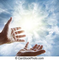 ciel, mains
