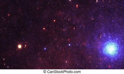 ciel, nébuleuse, étoiles, galaxie, nuit