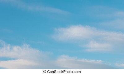 ciel, nature, défaillance, nuageux, matin, arrière-plan., temps