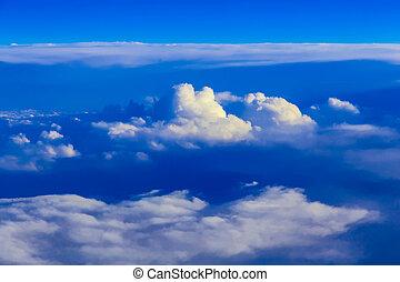 ciel, nuages, au-dessus, vue